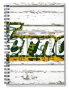 Vernors Beverage Company Recycled Michigan License Plate Art On Old White Barn Wood Spiral Notebook