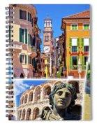 Verona Colorful Tourist Landmarks Postcard  Spiral Notebook