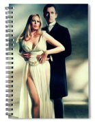 Veronica Carlson And Peter Cushing Spiral Notebook