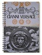 Versace Logo Spiral Notebook