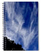 Vertical Clouds Spiral Notebook