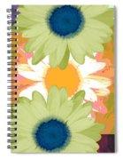 Vertical Daisy Collage II Spiral Notebook