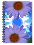 Vertical Daisy Collage Spiral Notebook