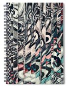 Vertical Graphic Layers Spiral Notebook