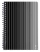Vertical Stripes In Black And White Spiral Notebook
