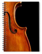 Vertical Violin Art Spiral Notebook