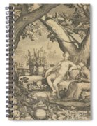 Vertumnus And Pomona Spiral Notebook