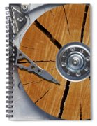 Very Old Hard Disc Spiral Notebook