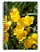 Very Sunny Yellow Flowers Spiral Notebook