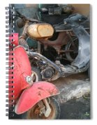 Vespa Scooter Spiral Notebook