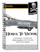 Vf-103 Jolly Rogers Spiral Notebook