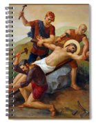 Via Dolorosa - Jesus Is Nailed To The Cross - 11 Spiral Notebook