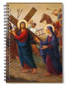 Via Dolorosa - The Way Of The Cross - 4 Spiral Notebook