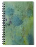 Vibrant Green Abstract Ink Design Spiral Notebook
