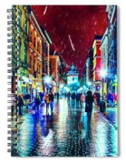 Vibrant Night Life Spiral Notebook
