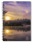 Vibrant Sunrise On The Androscoggin River Spiral Notebook