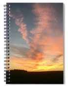 Vibrant Sunset Spiral Notebook