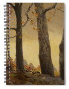 Victor Coleman Anderson 1882  1937 Wet Leaves Spiral Notebook