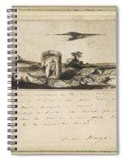 Victor Hugo   Landscape   1837 Spiral Notebook