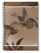 Victorian Birds In Sepia Spiral Notebook
