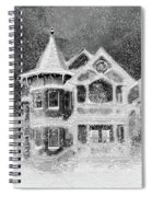 Victorian Christmas Black And White Spiral Notebook