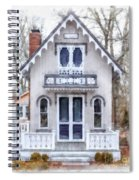 Victorian Cottage Watercolor Spiral Notebook
