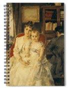 Victorian Family Scene Spiral Notebook