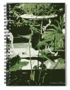 Victorian Garden Poster Spiral Notebook