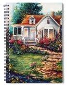 Victorian House With Gardens Spiral Notebook