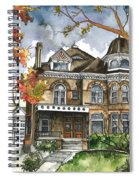 Victorian Mansion Spiral Notebook