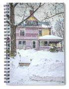 Victorian Snowstorm Spiral Notebook