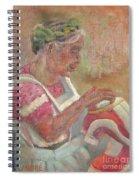 Viejita Bordando Spiral Notebook