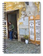 Vienna Girl And Dog Spiral Notebook
