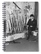 Viet Nam Vet John Dane With His Weapons Collection American Fork Utah 1975 Spiral Notebook