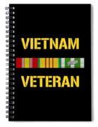 Vietnam Veteran Ribbon Bar  Spiral Notebook