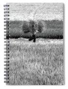 Vietnamese Farmer Black White  Spiral Notebook