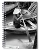 Vietnamese Woman Boat Ores Really For Tourist Mekong Delta  Spiral Notebook