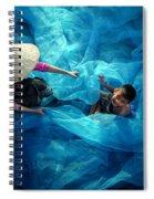 Vietnamese Women Repair Fishing Net And Fish Nets. Spiral Notebook