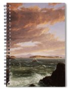 View Across Frenchman's Bay From Mt. Desert Island After A Squall Spiral Notebook
