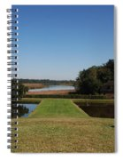 View Down To The Ashley River At Middleton Place Plantation Charleston Spiral Notebook