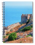View Far Out To Sea From Alanya Castle Spiral Notebook