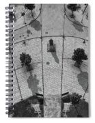 View From A Church Tower Monochrome Spiral Notebook