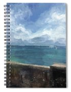 View From Bermuda Naval Fort Spiral Notebook