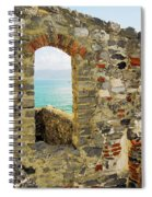 View From Doria Castle In Portovenere Italy Spiral Notebook