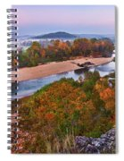 View From Greens Cave Bluff Spiral Notebook