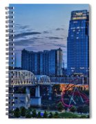 View From Lp Field Spiral Notebook
