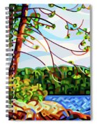 View From Mazengah - Crop Spiral Notebook