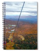 View From Mount Mansfield In Autumn Spiral Notebook