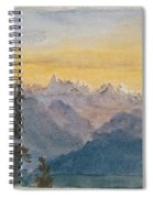 View From Mount Pilatus Spiral Notebook