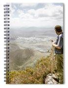 View From Mt Zeehan Tasmania Spiral Notebook
